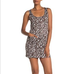 BE BOP Leopard Print Sleeveless Pocket Mini Dress